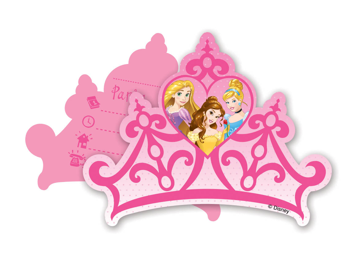 Uitnodigingen Disney Prinsessen